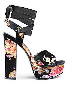 Glamorous Velvet Tie Up Platform