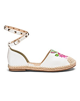Sole Diva Embroidered Espadrille D Fit