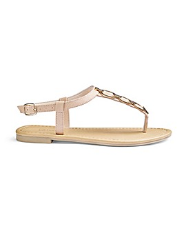 Kendra Toepost Sandals Wide Fit