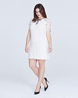 Elvi Embellished Lace Dress