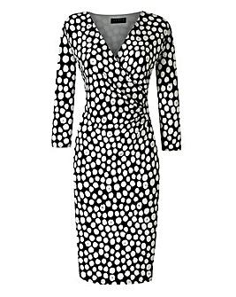 Grace Spot Wrap Dress