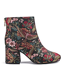 Maya Jacquard Boots Wide Fit