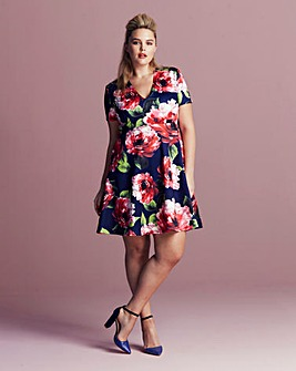AX Paris Curve Floral Scuba Dress