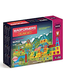 Magformers Village Set 110 Piece