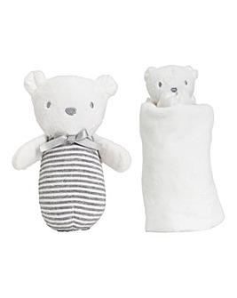 Silvercloud Comforter & Chime - Bear