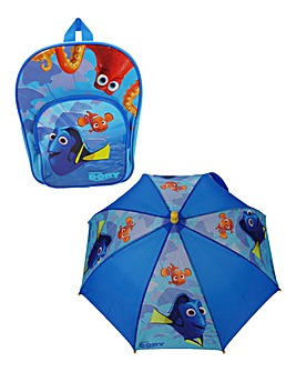 Disney Finding Dory Backpack & Umbrella