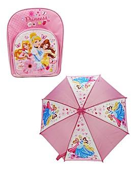 Disney Princess Backpack & Umbrella