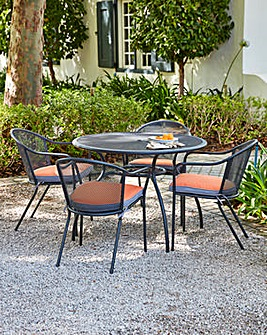 Paris Metal 4 Seat Mesh Dining Set