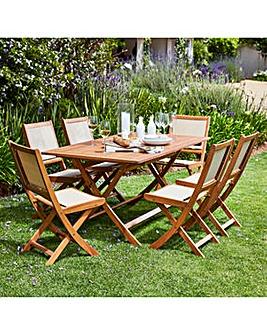 Stockholm 6 Seat Wooden Dining Set