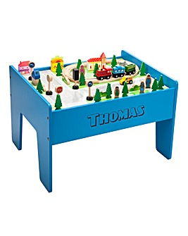 Personalised Wooden 60pc Train Table Set