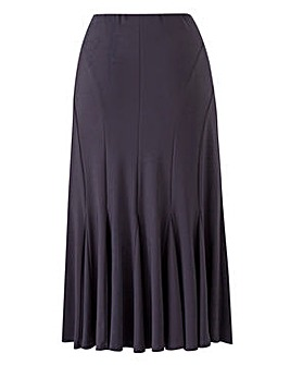 ITY Jersey Skirt with Godets L32in