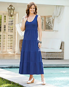 Plain Tiered Jersey Dress 48in