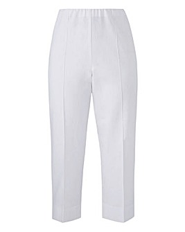 Cropped Linen Mix Trouser