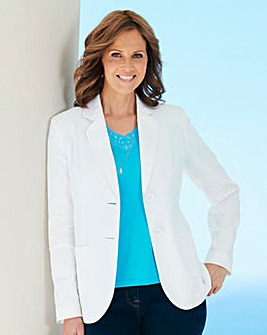 Linen Mix Tailored Jacket