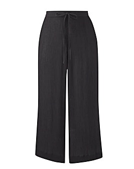 Plain Crinkle Crop Trouser