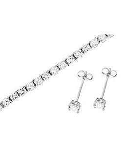 Sterling Silver Cubic Zirconia Set