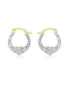 9CT Yellow Gold Heart Earring