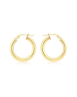 9CT Yellow Gold 15MM Creole Earring
