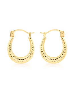 9Ct Gold Mini Creole Earring
