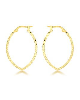 9Ct Gold Patterned Earring