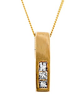 9ct Yellow Gold 0.15ct Diamond Pendant