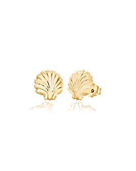 9Ct Gold Shell Stud Earring