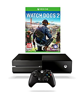 Xbox One 500GB Console & Watch Dogs 2