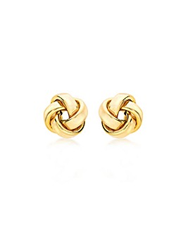 9Ct Gold Knot Stud Earring