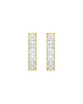 9ct Gold Bar Drop Earring