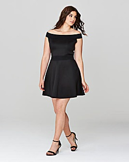 Simply Be Bardot Skater Dress