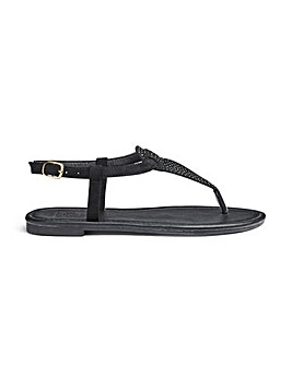 Sole Diva Ava Jewel Sandals E Fit