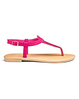 Sole Diva Ava Jewel Sandals EEE Fit