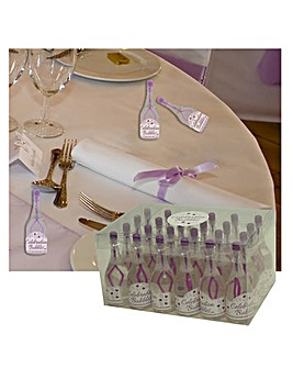 Bubbles Favors Clear Bottle Purple Wand