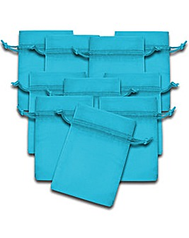Organza Favor Bags Turquoise x 10