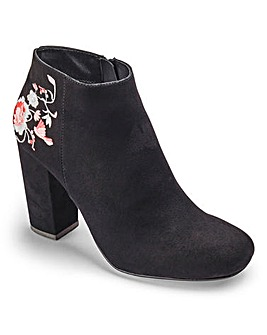 Sole Diva Embroidery Boot EEE Fit