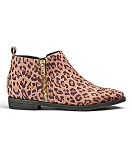 Sole Diva Zip Ankle Boots EEE Fit