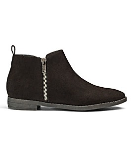 Sole Diva Zip Ankle Boots E Fit