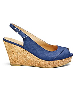 Sole Diva Slingback Wedges EEE Fit