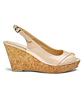 Sole Diva Ellie Slingback Wedges E Fit