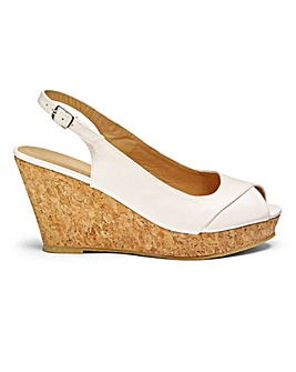 Ellie Slingback Wedges EEE Fit
