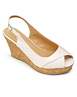 Sole Diva Ellie Slingback Wedges EEE Fit