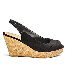 Slingback Wedges E Fit