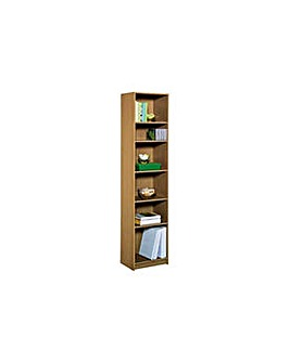 Maine Extra Deep Bookcase - Oak