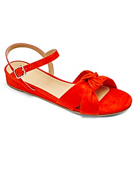 Sole Diva Knot Wedge Sandal E Fit