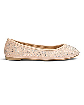 Sole Diva Ellie Jewel Ballerina E Fit