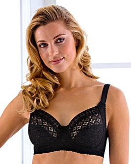 Miss Mary Full Cup Wired Black Bra