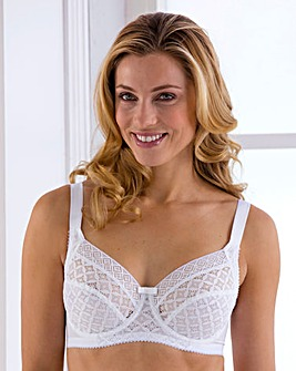 Miss Mary Full Cup Wired White Bra