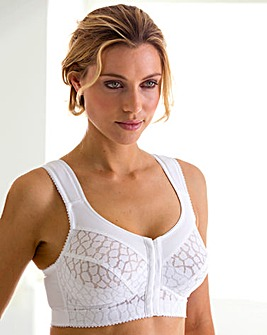 Miss Mary NonWired Jacquard White Bra
