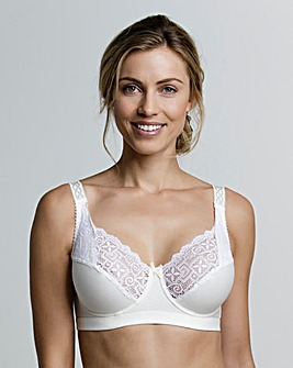 Miss Mary Cotton and Lace Wired Bra