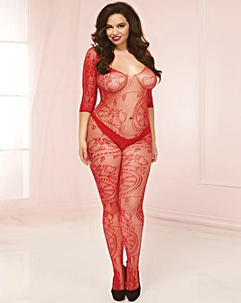 Seven Til Midnight Lace Bodystocking